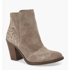 Lucky Brand Elenor Genuine Suede Ankle Boots